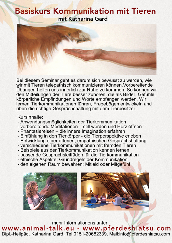Basiskurs Tierkommunikation